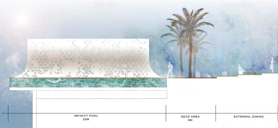Dubai Infinity Pool Plan