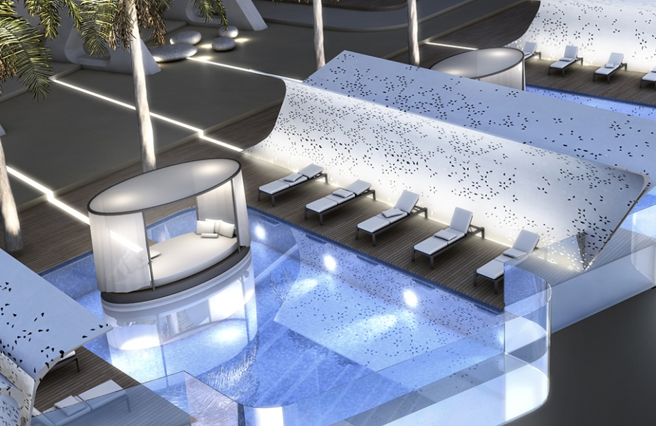 5* Hotel Dubai Pool Concept