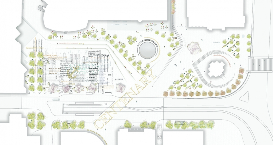 RIBA Centenary Square Render Plan