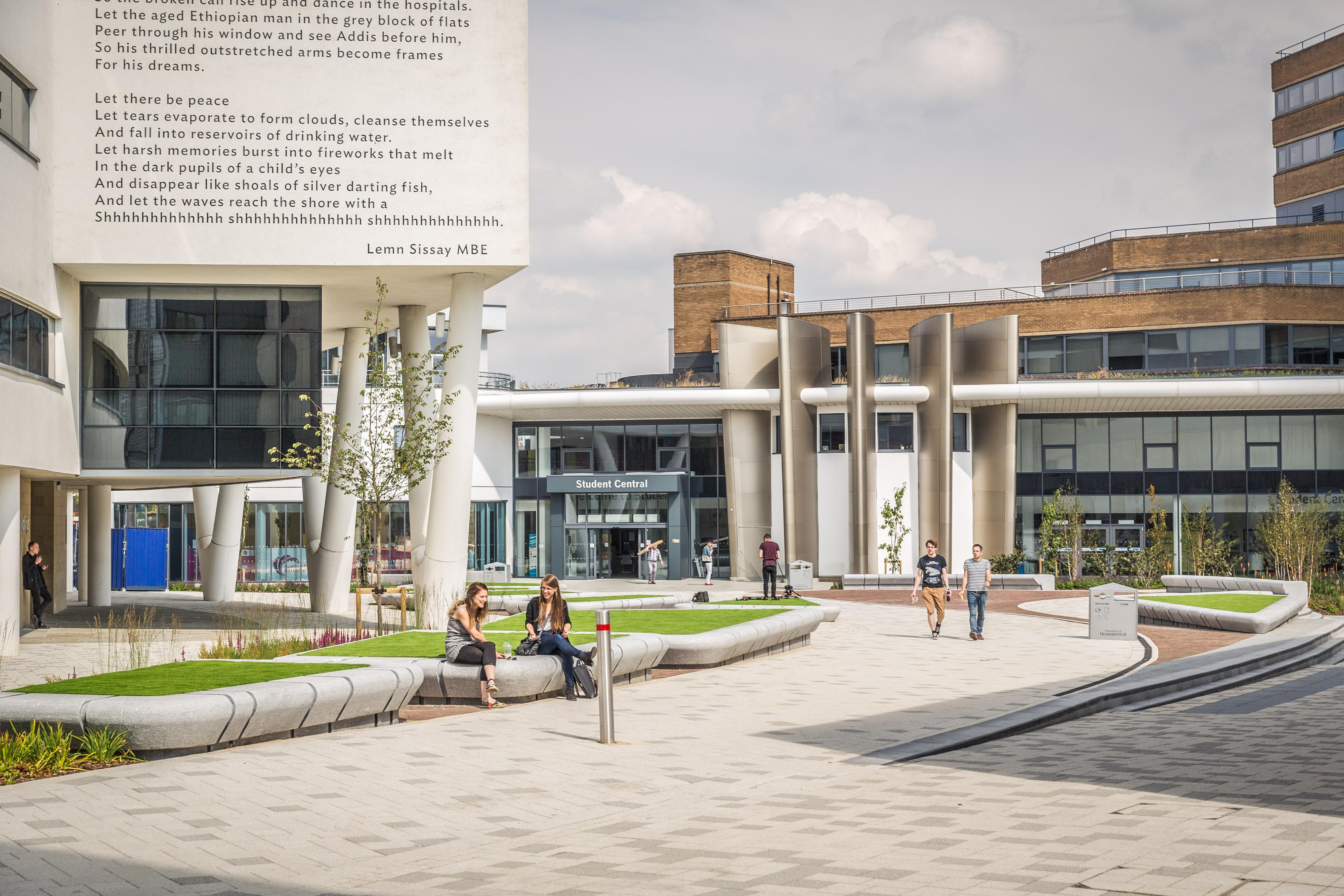 University of Huddersfield landscape